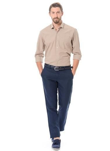 Wessi Ekose Slim Fit Uzun Kollu Gömlek Renkli